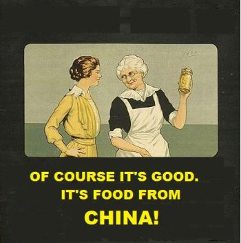 Of course it's god. It's food from China! Country of Origin Labeling