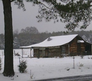 Matts Barn in Snow