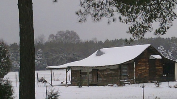 Fish Creek Barn in Winter